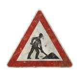 Nostalgic construction sign Stock Photos