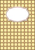 Nostalgic copybook cover in beige design with geometric patterns with blank retro label Stock Photo