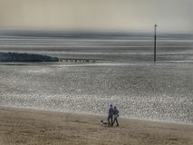 Nostalgic. The couple at the beach Royalty Free Stock Images