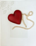 Nostalgic Heart & Pearls On White Stock Image