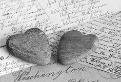 Nostalgic hearts Stock Image