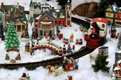Nostalgic Image Of Christmas Village, Sunnyside Gardens, Saratoga Springs, New York, 2018 Stock Image