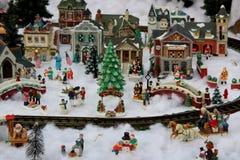 Nostalgic Image Of Christmas Village, Sunnyside Gardens, Saratoga Springs, New York, 2018 Royalty Free Stock Images