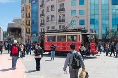 Nostalgic Istiklal Caddesi Tram Stock Photography