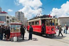 Nostalgic Istiklal Caddesi Tram Stock Photos