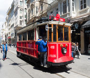 Nostalgic Istiklal Caddesi Tram Royalty Free Stock Images