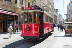 Nostalgic Istiklal Caddesi Tram Stock Photo