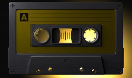 Nostalgic Macro Cassette Tape Royalty Free Stock Photography
