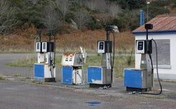 Nostalgic petrol station. Roadside in Scotland stock images
