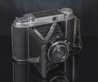 Nostalgic photo of an old camera. stock image