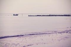 Nostalgic retro filtered sea landscape background. Stock Image
