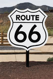 Nostalgic route 66 sign Stock Image