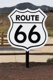 Nostalgic route 66 sign stock image