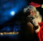 Nostalgic Santa. Nostalgic magical portrait of Santa Claus at the North Pole Royalty Free Stock Photo
