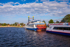nostalgic steamboat Stock Photography