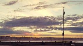 Sunrise. A nostalgic sunrise on the beach Stock Image
