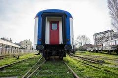 Nostalgic trains parked at Haydarpasa station for visitors, Istanbul, Turkey. March`2017. Nostalgic trains parked at Haydarpasa station for visitors, Istanbul Stock Photo