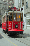 Nostalgic Tram, Istanbul Royalty Free Stock Photos