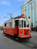 Nostalgic tram line, Istanbul, Turkey. stock photography