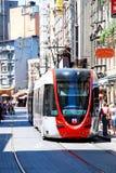 Nostalgic trams of Eminönü, Istanbul Stock Photography