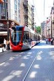 Nostalgic trams of Eminönü, Istanbul Royalty Free Stock Image