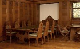 Nostalgic wood panelled room Stock Photos