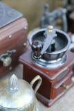 Nostalgiczny kawowy ostrzarz miękkie ogniska, Zdjęcie Stock