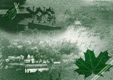 Nostalgie - collage vert Photographie stock libre de droits