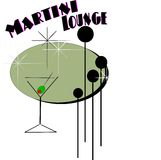 Nostalgie de Martini illustration stock