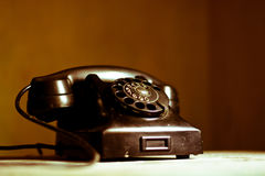 Nostalgin av appeller med gamla telefoner Royaltyfri Foto