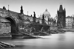 Nostalgisch Charles Bridge Royalty-vrije Stock Foto's