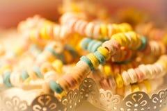 Nostalgische suikerketting in een snoepwinkel royalty-vrije stock fotografie