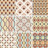Nostalgisches geometrisches Muster der nahtlosen Mode lizenzfreie abbildung