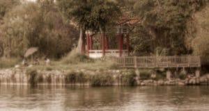 Nostalgisk plats av sommar Tid vid sjön Royaltyfri Fotografi