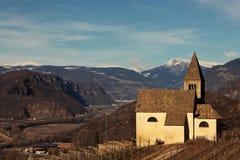 Egna, Alto Adige, Italy. Nostra Signora di Villa, church in Egna, Alto Adige, Italy royalty free stock images