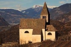 Egna, Alto Adige, Italy. Nostra Signora di Villa, church in Egna, Alto Adige, Italy stock photo