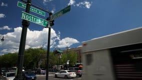 Nostrand Avene и восточный знак бульвара видеоматериал