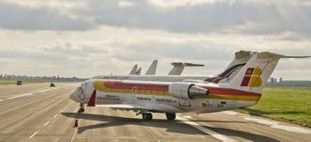Nostrum del aire, CRJ200 imagen de archivo libre de regalías