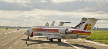 Nostrum dell'aria, CRJ200 immagine stock libera da diritti