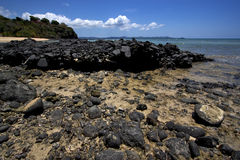 Nosy be rocks. Stone in a beach in nosy be  madagascar Stock Photography