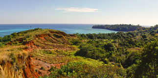 Nosy Iranja a tropical beach in Madagascar - panoramic view Stock Images