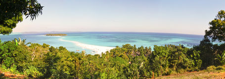 Nosy Iranja a tropical beach in Madagascar - panoramic view Royalty Free Stock Image