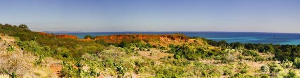 Nosy Iranja a tropical beach in Madagascar - panoramic view Royalty Free Stock Photos