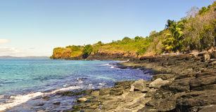 Nosy Iranja a tropical beach in Madagascar - panoramic view Stock Photo