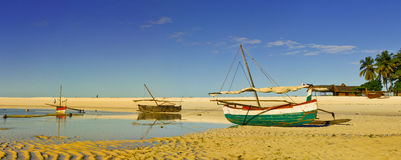 Nosy Iranja a tropical beach in Madagascar - panoramic view Stock Photography