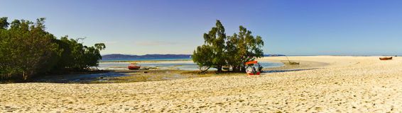 Nosy Iranja a tropical beach in Madagascar - panoramic view Stock Photos