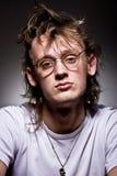 noszący okulary mężczyzna Zdjęcie Royalty Free