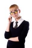 noszący okulary dziewczyna Zdjęcie Royalty Free
