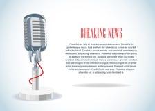 Notícia & microfone Imagem de Stock Royalty Free