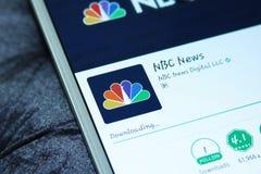 Notícia app móvel do NBC foto de stock